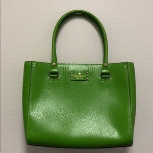 Cute green Kate Spade purse with dust bag